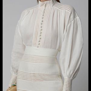 Zimmermann corsage lace paneled blouse